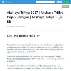 Akshaya Tritiya Pujan Samgari