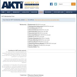 AKTI Membership Form