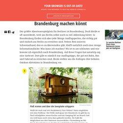 11 Outdoor-Aktivitäten, die ihr in Brandenburg machen könnt