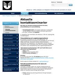 Aktuella kontaktseminarier - utbyten.se