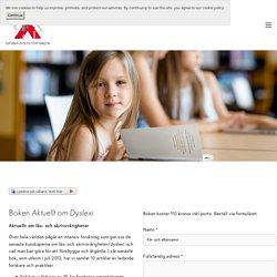 Boken Aktuellt om Dyslexi — Dyslexiföreningen