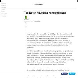 Top Notch Akustiska Konsulttjänster