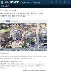 Alabama tornado anniversary: Study shows victims heeded warnings