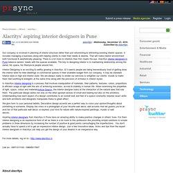 Alacritys' aspiring interior designers in Pune