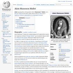 Alain Manesson Mallet