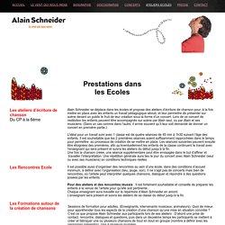 Alain Schneider - Dans les écoles