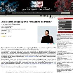 """Alain Soral attaqué par le """"magazine de Daech"""""""