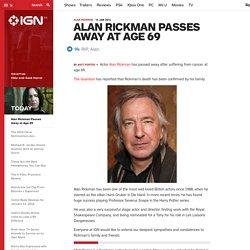 Alan Rickman Passes Away at Age 69