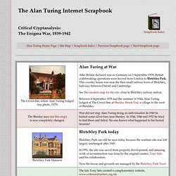 Alan Turing Scrapbook - The Enigma War