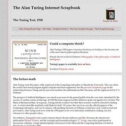 Alan Turing Scrapbook - Turing Test