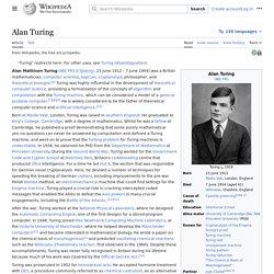 Alan Turing - Wikipedia