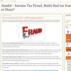 How to avoid Insurance Fraud – Alankit assignments limited