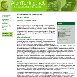 AlanTuring.net What is AI?