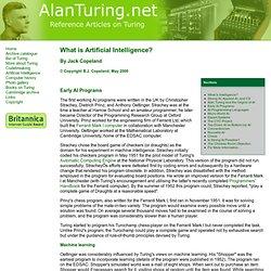 Part 4 - Early AI Programs
