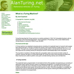 What is a Turing machine?