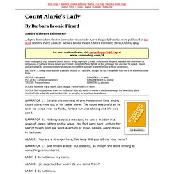 RTE #17 ~ Count Alaric's Lady (Barbara Leonie Picard)
