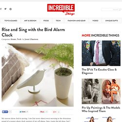 Rise and Sing with the Bird Alarm Clock