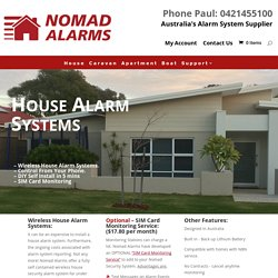 Home Alarm Systems - Types Of House Alarm System - Nomad Alarms