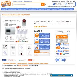 Alarme ventes sur internet pearltrees for Alarme maison internet