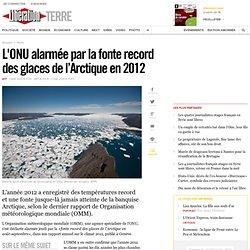 L'ONU alarmée par la fonte record des glaces de l'Arctique en 2012