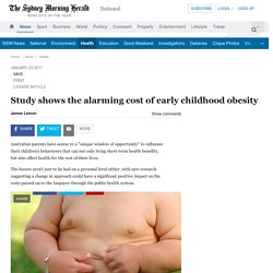 Study shows the alarming cost of early childhood obesity