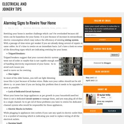 Alarming Signs to Rewire Your Home