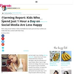Alarming Report: Kids Who Spend Just 1 Hour a Day on Social Media Are Less Happy