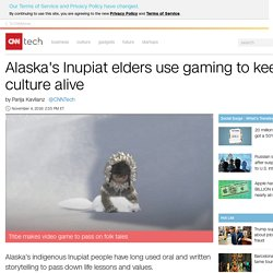 Alaska's Inupiat elders create a video game to keep culture alive among their youth - Nov. 4, 2016