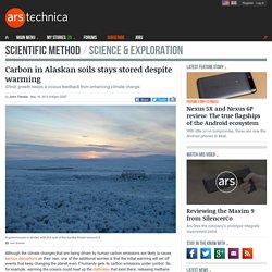 Carbon in Alaskan soils stays stored despite warming