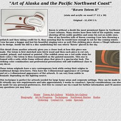 Alaskan and Pacific Northwest Coast Totem and Wildlife Art-Raven Totem II