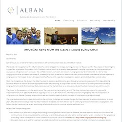 Alban - Building Up Congregations and Their Leaders