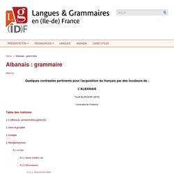Langues et grammaires en (Ile-de-)France