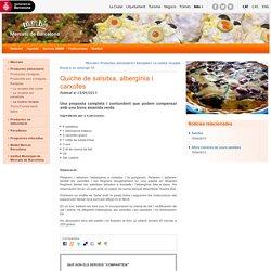 Quiche de salsitxa, albergínia i carxofes