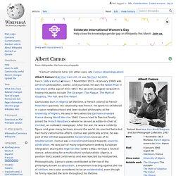 Albert Camus - Wikipedia