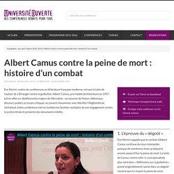 Albert Camus contre la peine de mort : histoire d'un combat