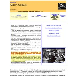Albert Camus écrivain méditerranéen