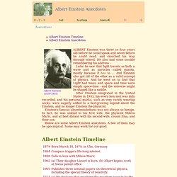 Albert Einstein Anecdotes