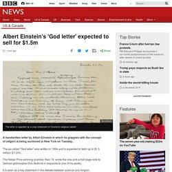 Albert Einstein's 'God letter' expected to sell for $1.5m