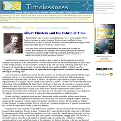 Albert Einstein and the Fabric of Time