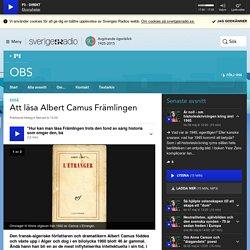 Att läsa Albert Camus Främlingen - OBS
