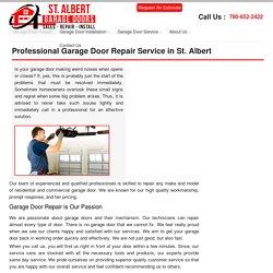 St. Albert Garage Doors Repair, Fix & Replacement Service