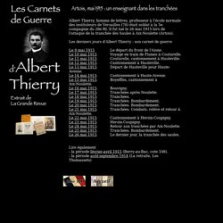 Albert Thierry en Artois : mai 1915