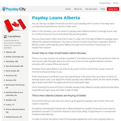Payday Loans Alberta Online Instant Approval – PaydayCity.ca