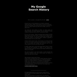 Albertine Meunier - My Google Search History