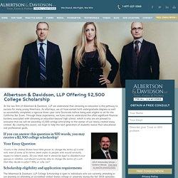Albertson & Davidson's 2016 $2,500 College Scholarship