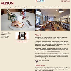 Albion Cafe, Bakery and Food Store