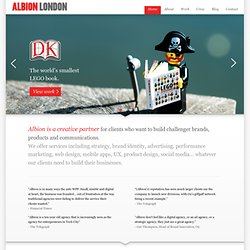 Albion London - a digitally-minded integrated advertising agency