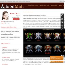 AlbionMall's Suggestions to Improve Albion Online - albionmall.com