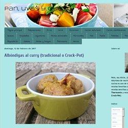 Pan, uvas y queso : Albóndigas al curry (tradicional o Crock-Pot)