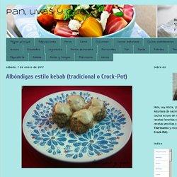 Pan, uvas y queso : Albóndigas estilo kebab (tradicional o Crock-Pot)